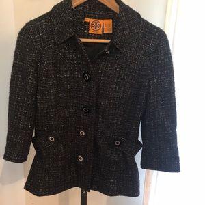 Tory Burch Black 3/4 Sleeve Blazer